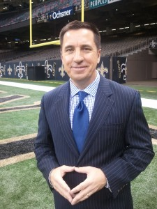 Mike Nabors, sideline reports for New Orleans Saints