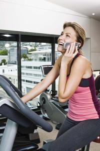 treadmill cell phone talker