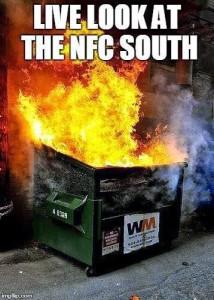 nfc south dumpster fire