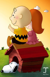 charlie brown little red hed girl