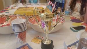 ally's sleepover trophy