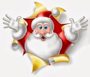 funny santa pic