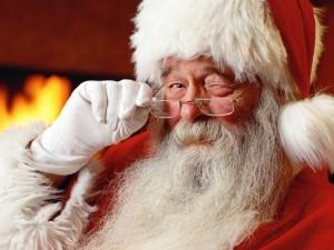 winking santa pic